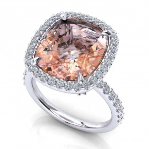 SAYES CUSTOM - Anello con Morganite
